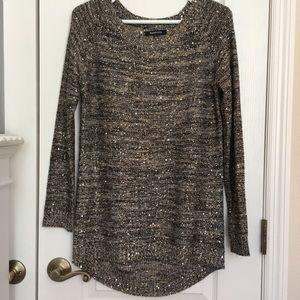RELATIVITY sparkle sweater women's small